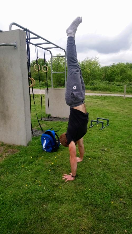 Straightish handstand