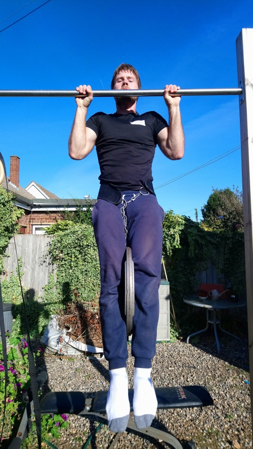 Weighted pull up hold
