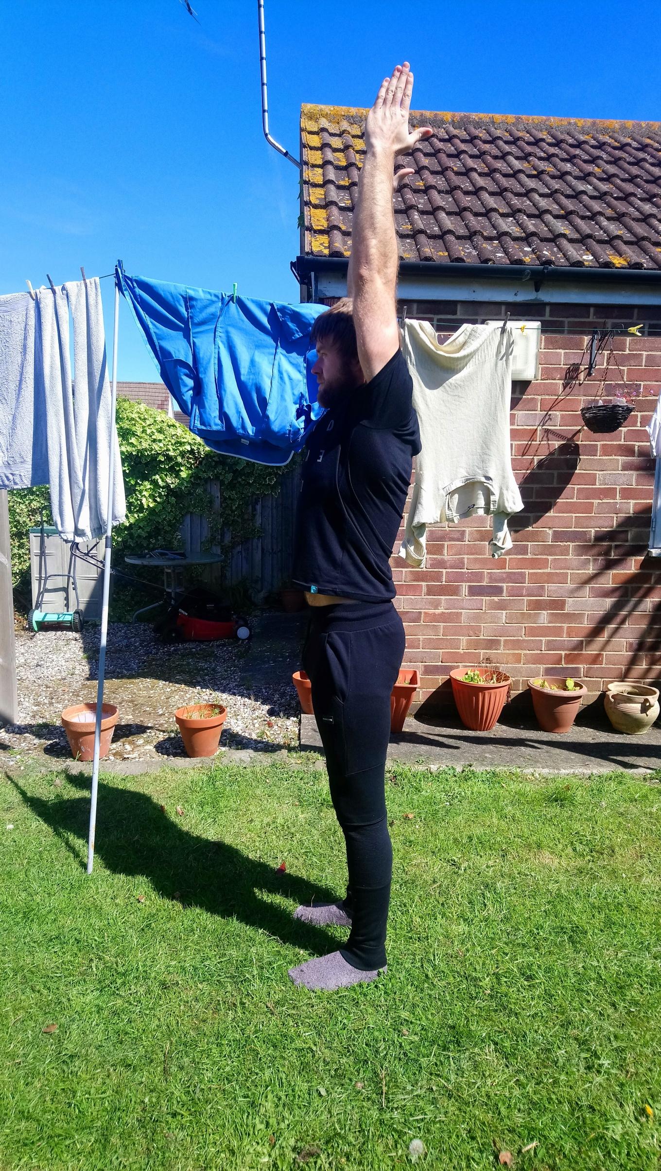 Active shoulder flexion May 2019
