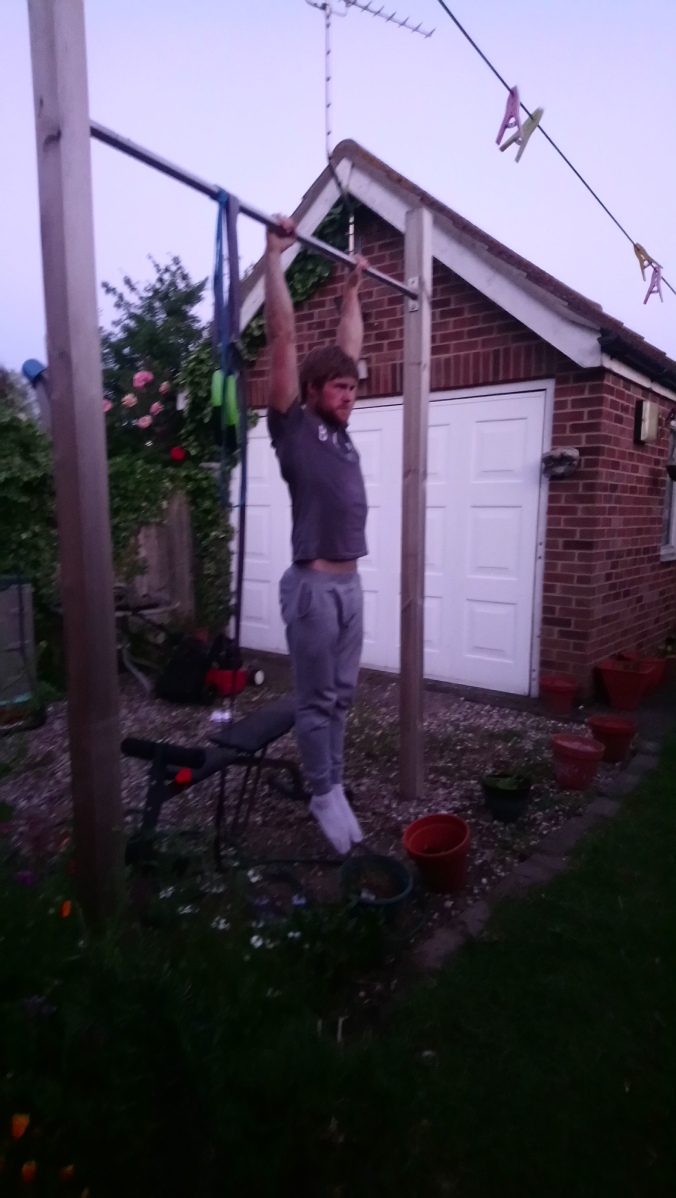 Dead hang for front lever