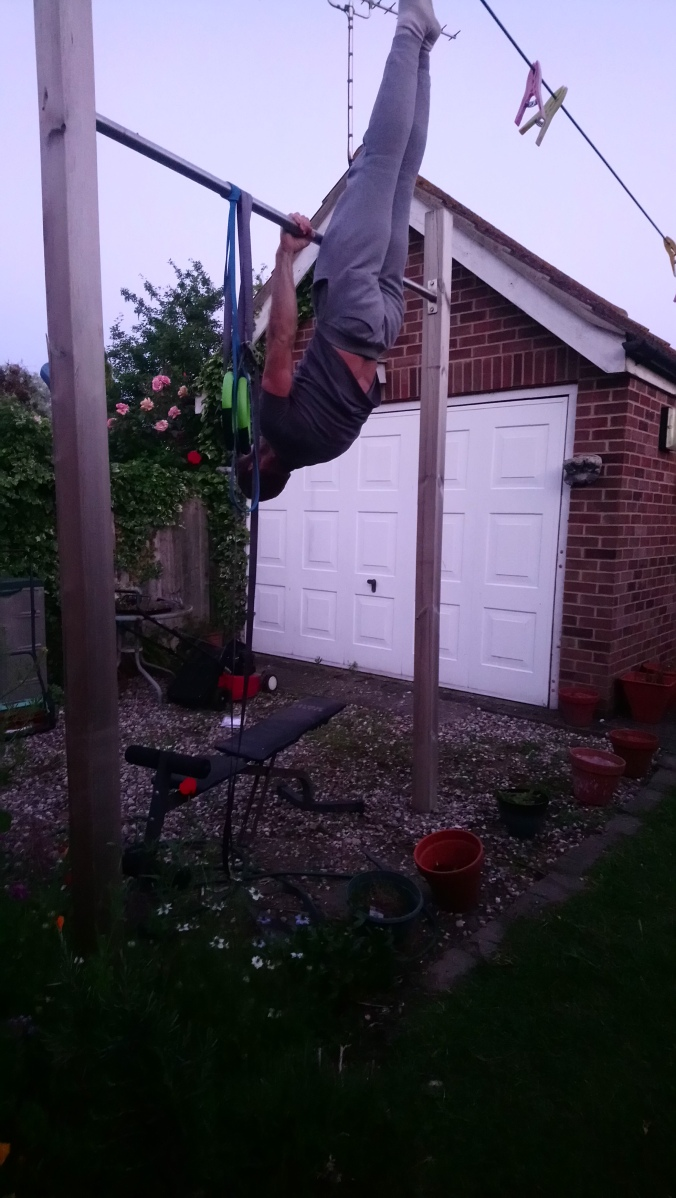 Inverted hang for front lever