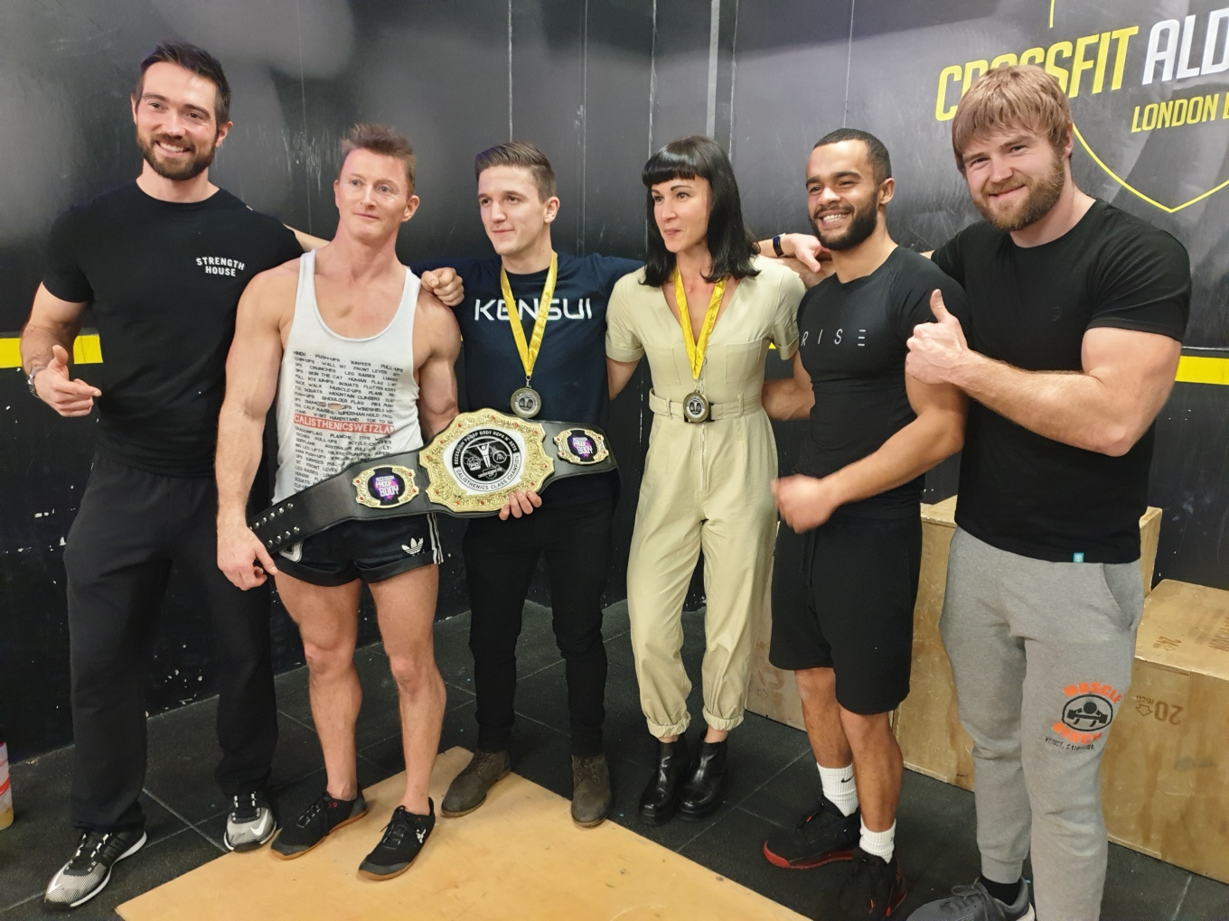 Male & Female winners December 2019 Crossfit aldgate