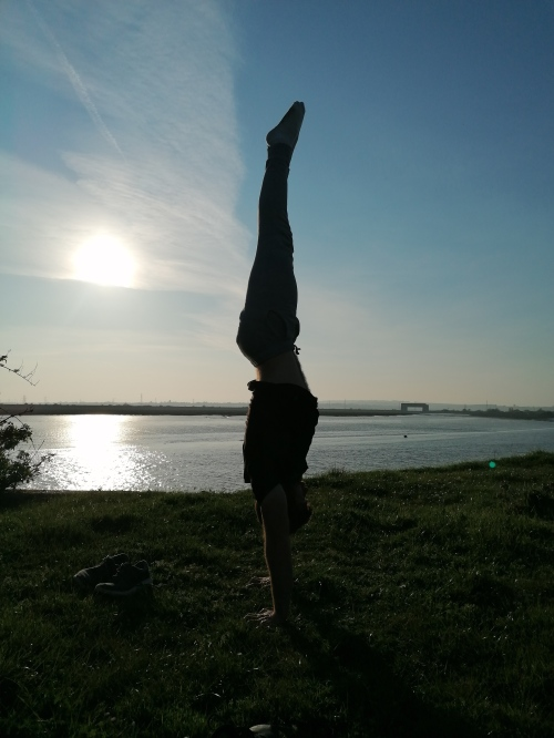 Head in handstand Canvey Wall 2020